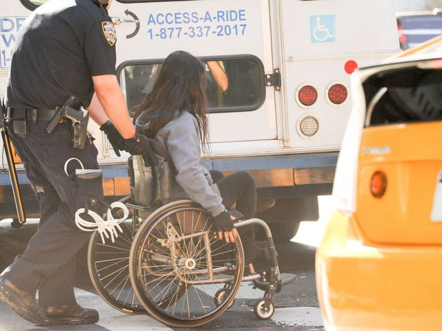 The NYPD arrested at least four wheelchair-bound demonstrators at the Occupy Wall Street rally on Sept. 17, 2012.
