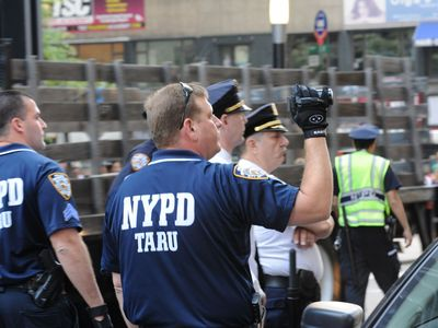 Cops arrested more than 100 demonstrators on Sept. 17, 2012.