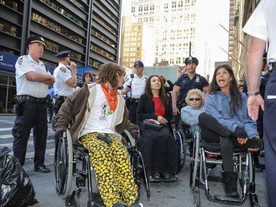 At least four wheelchair-bound protesters were arrested on Sept. 17, 2012.