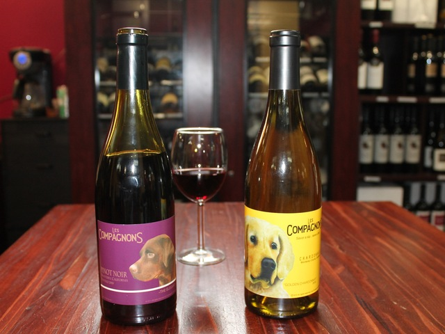 Les Compagnons Wines donates 10 percent of its proceeds to various NY dog charities.