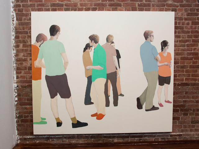 A painting featured at the TriBeCa art space TEMP in the exhibit,