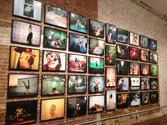 Photos from 12 artists line the exposed brick walls of TEMP, a contemporary art space in TriBeCa. The feature the exhibition,