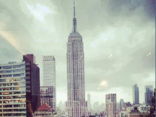 Clouds hung over the Empire State Building on Sept. 18, 2012.