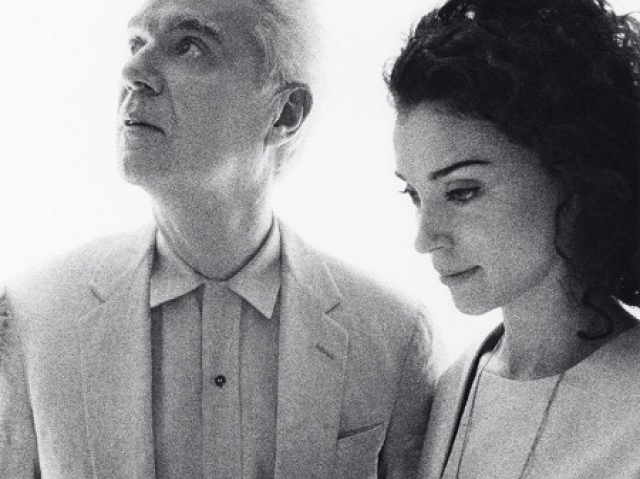 Former Talking Heads frontman David Byrne  & singer songwriter and multi-instrumentalist St Vincent (Annie Erin Clark) show off their funky new collaborative album