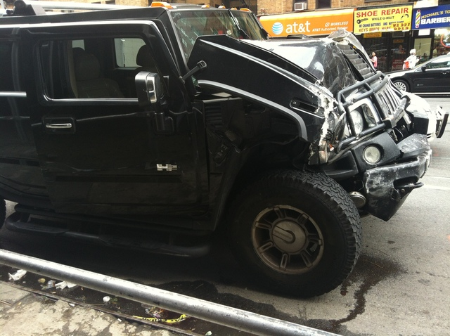A Hummer smashed into a Chelsea restaurant Sept. 18, 2012, injuring eight people.