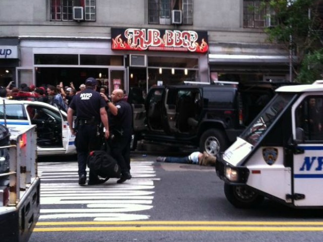 A stolen Hummer slammed into Rub BBQ on 23rd Street Sept. 18, 2012.