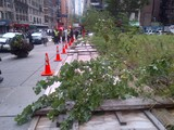 Wind Knocks Down Wooden Fence in Midtown, Injuring 1