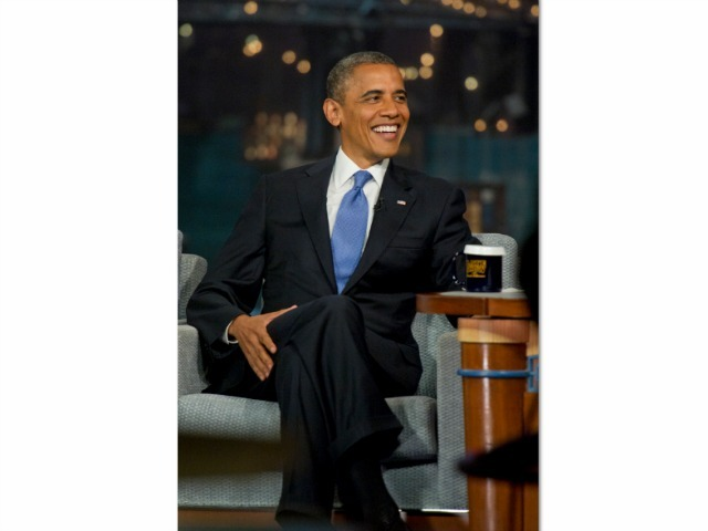 President of the United States, Barack Obama talks with Dave when he visits the Late with David Letterman, Tuesday September 18, 2012.