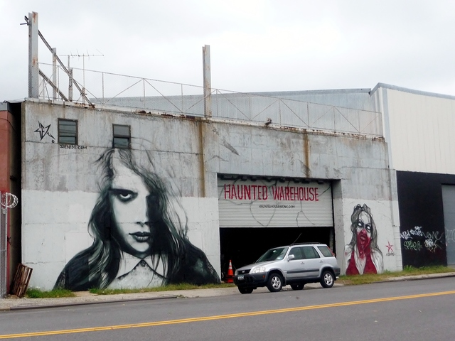 Located on Commerce Avenue in the Castle Hill section of the Bronx, the Haunted Warehouse is its in second season. Its theme is a zombie apocalypse.