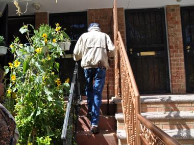 Robert Foster, 91, is suing his neighbor for demolishing his staircase.