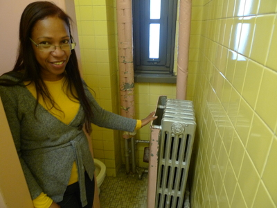 Principal Annabell Martinez says the bathrooms at P.S. 124 have been in desperate need of renovation since she started eight years ago.