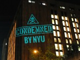 NYU Expansion Foes Project Protests on Campus with OWS 'Illuminator'