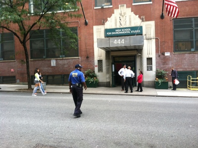 A teenager was stabbed near a Hell's Kitchen high school Sept. 20, 2012.