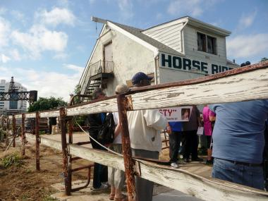 A small group of area residents want to fix up a rundown horse stable on Pelham Parkway, where a horse known as Rusty is housed. Local leaders have been pushing to have the horse moved from the stable, where the city issued a vacate order last year.