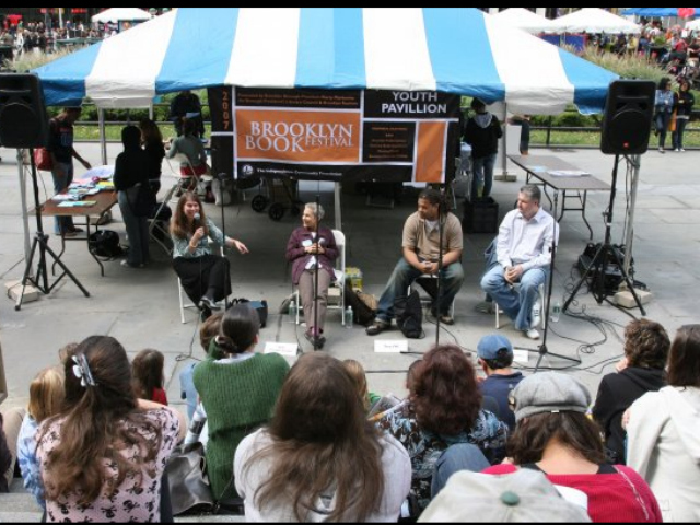 The Brooklyn Book Festival (seen here in 2008) will have more than 280 authors and 104 panels on 14 stages