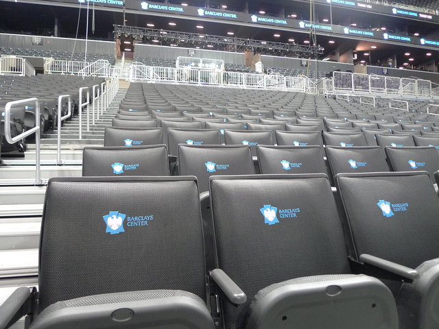 <p>Seats at the new Barclays Center arena.</p>