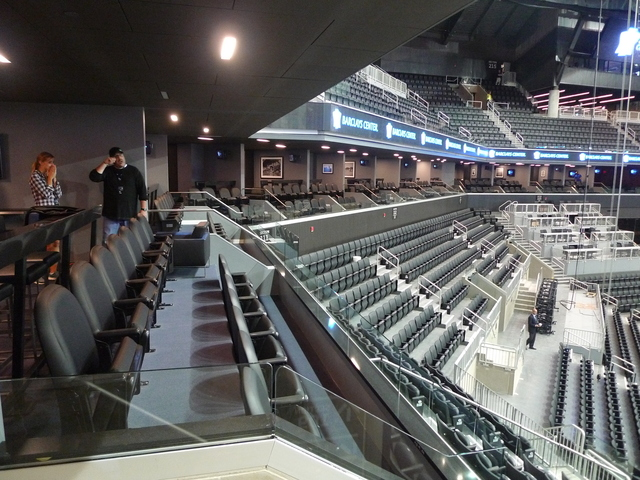<p>Inside the new Barclays Center.</p>