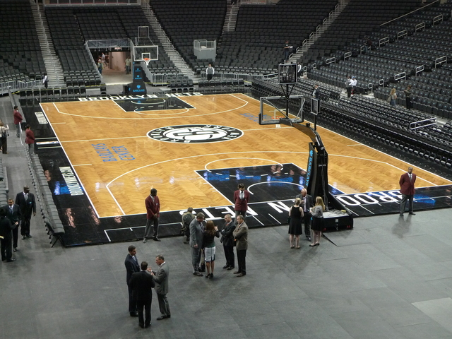 <p>The court at the Barclays Center arena.</p>