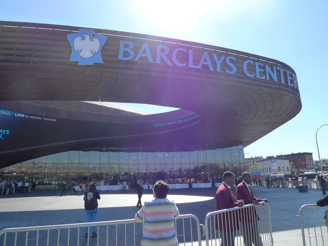 <p>The Barclays Center was unveiled to the press at a Sept. 21, 2012 ribbon cutting.</p>