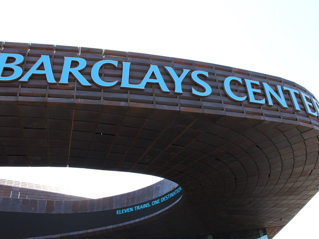 <p>The Barclays Center in downtown Brooklyn was unveiled at a ribbon cutting ceremony on Sept. 21, 2012.</p>