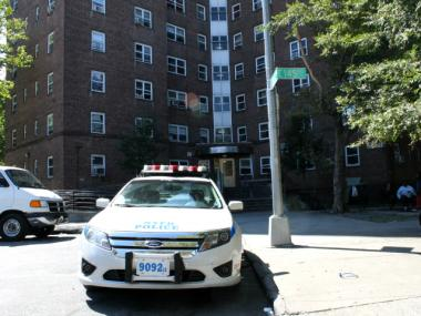 NYPD said a woman's body was discovered Friday, Sept. 21, 2012 on the roof of a building on 145th Street.