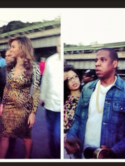 Patrons at La Marina posted photos of Beyonce and Jay-Z at La Marina on Set. 23, 2012.