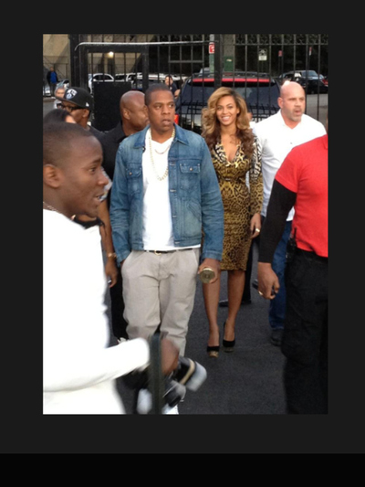 Beyonce and Jay-Z visited La Marina restaurant and bar on Dyckman Street in Inwood on Sept. 23, 2012.