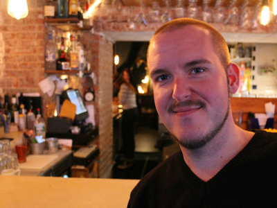 Michael Brady, general manager of The Clock Café and Martini Bar.