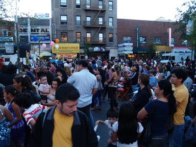 <p>The Viva La Comida! festival drew a large crowd to Dunningham Triangle at the Jackson Heights-Elmhurst border.</p>