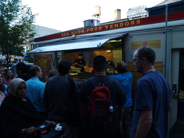 Even the Red Hook food trucks made the trek to Viva La Comida! in Elmhurst.