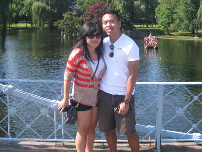 Jenn Chen and Daniel Chan on a surprise trip to Boston that Chan organized.