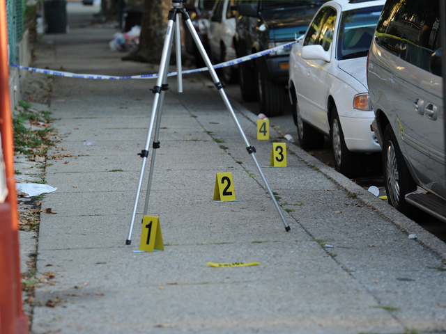 The scene of a fatal shooting outside of 4123 Clarendon Road in Brooklyn on Tuesday September 25th, 2012.