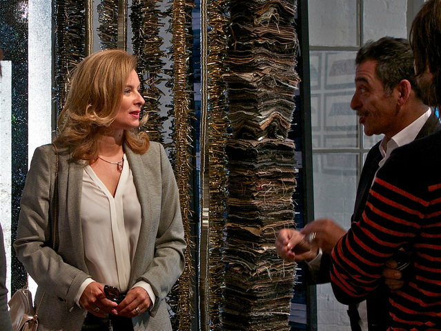 First Lady of France Madame Valerie Trierweiler took a private tour of the Invisible Dog Arts Center on Tuesday morning.