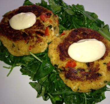 IN SEASON - Dijon Salmon Cakes