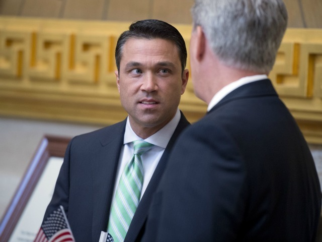 Rep. Michael Grimm mistakenly blamed an act of vandalism on a political opponent.