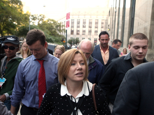 <p>Anna Gristina leaving court after pleading guilty to a single count of promoting prostitution on Sept. 25, 2012.</p>