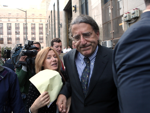 <p>Anna Gristina and her lawyer, Norman Pattis, leaving court after pleading guilty to a single count of promoting prostitution on Sept. 25, 2012.</p>