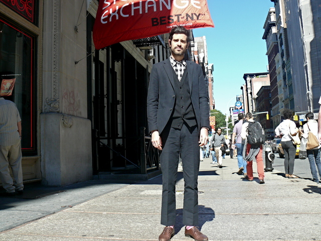 Indie singer, songwriter and artist Devendra Banhart on Broadway.