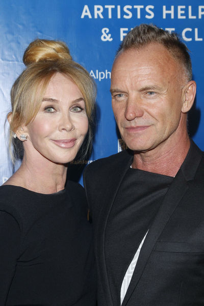 Trudie Styler and Sting at the Cinema for Peace dinner at the Harvard Club, Tuesday, September 25, 2012.