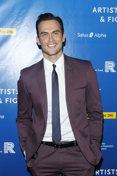 Cheyenne Jackson at the Cinema for Peace dinner at the Harvard Club, Tuesday, September 25, 2012.