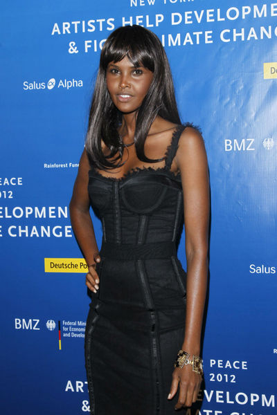 Ubah Hassan at the Cinema for Peace dinner at the Harvard Club, Tuesday, September 25, 2012.