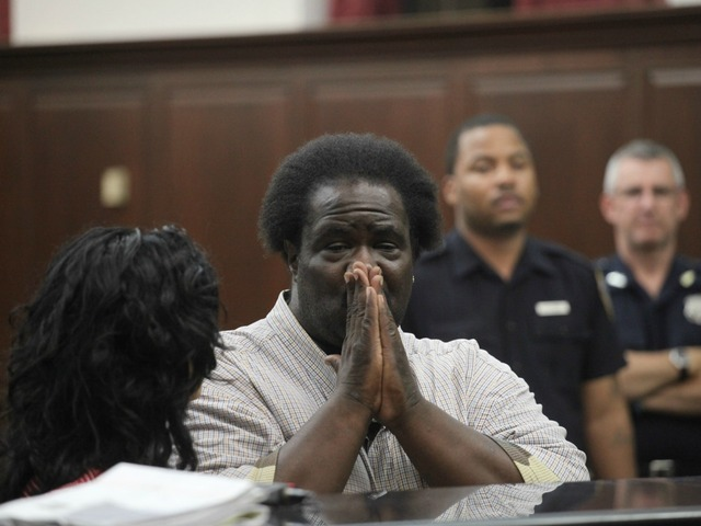 <p>Keith Patron, 44, was arraigned on hate crime charges at Manhattan Criminal Court Wednesday, Sept. 26, 2012.</p>