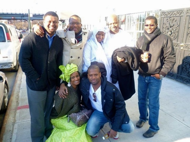<p>Mohamed Bah, 28, here with relatives. He was shot and killed by police in Harlem on Sept. 25, 2012.</p>