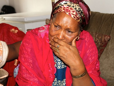 <p>Hawa Bah, 56, Mohamed Bah&#39;s mother, the day after her son was shot and killed by police in Morningside Heights on Sept. 25, 2012.</p>