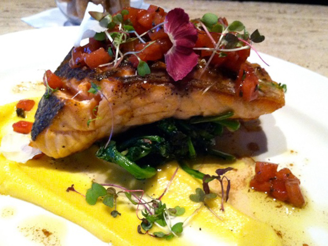 A salmon dish  from Felice, a new Italian restaurant that will open October 3 at 15 Gold St.