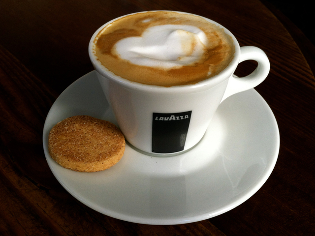 A cappuccino from Felice, a new Italian restaurant that will open October 3 at 15 Gold St.
