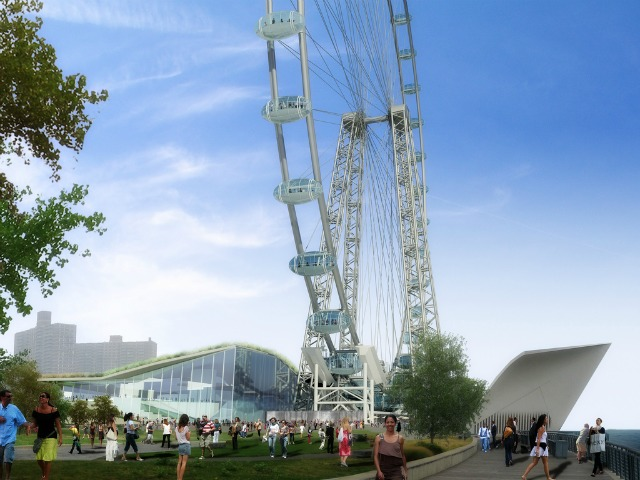 <p>A rendering of the proposed new Ferris wheel.</p>