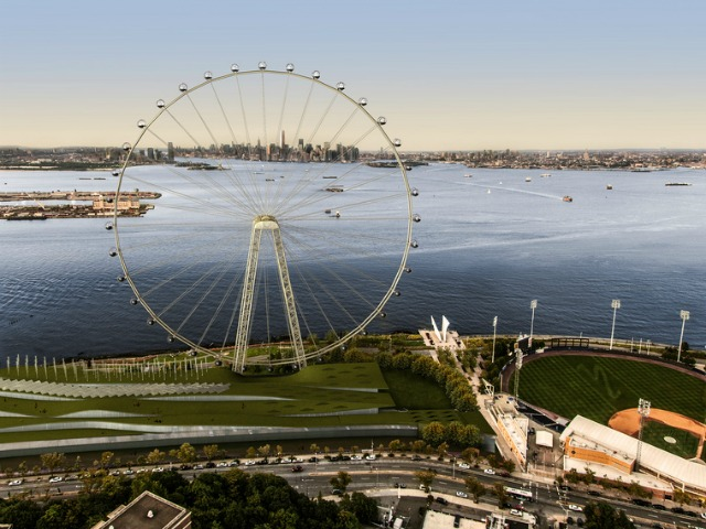 <p>Developer Rich Marin, said that this view of the wheel would become &quot;the money shot&quot; in New York.</p>