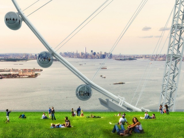 <p>The wheel would offer views across Lower Manhattan.</p>