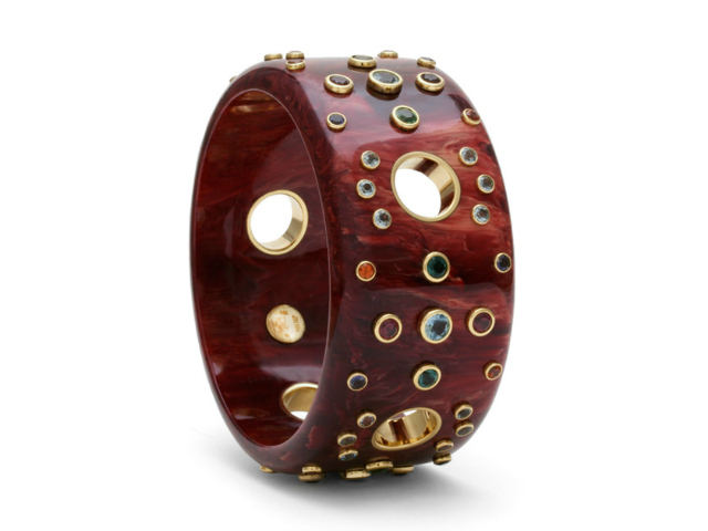 A bangle bracelet by Mark Davis.